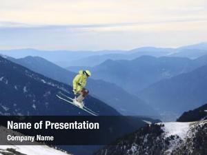 Jumping ski rider