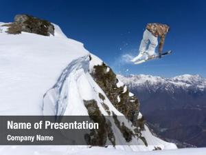 Freeride extreme ski sport