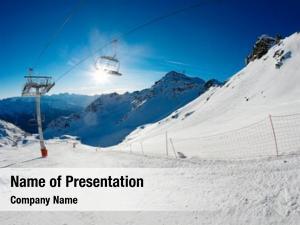 Chairlift ski slope sunshine