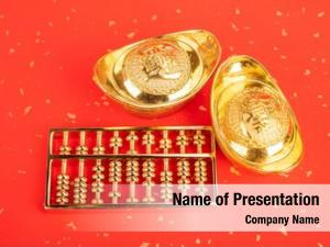 Year chinese new ornament  gold ingot