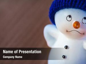 Snowman happy cute wooden table,