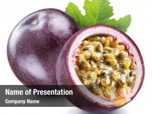 Its passion fruit cross section