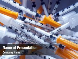 Insulin pile syringes