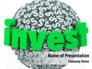 Dollar invest word sign symbols