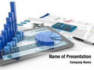 Tablet financial graph computer financial