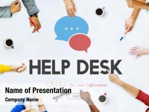 Help communication service desk concept/