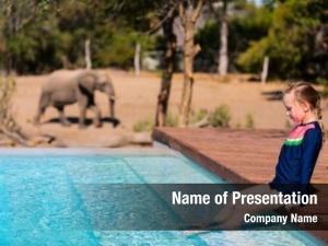 African little girl safari vacation