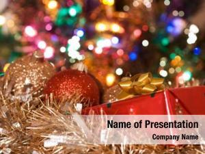 Present shot christmas christmas ornaments