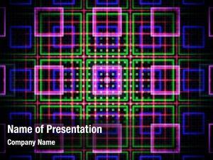 Bright fractal grid squares neon