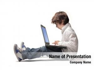 Using seated child laptop