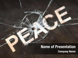 Peace, concept fragile disturbing peace