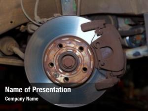 Brake car wheel rusty disc