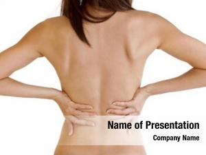 Behind, woman backache naked body