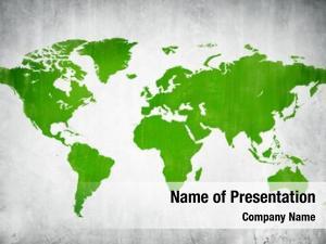 World textured map globe map