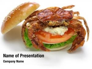 Crab soft shell sandwich, spider