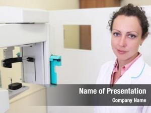 Next doctor stands orthopantomograph, dental