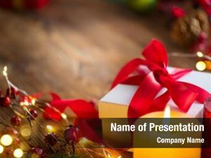 Box christmas gift red satin