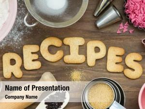 Word cookies forming recipes