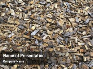 Wood background landscaping chips