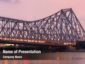 Historic howrah bridge cantilever bridge