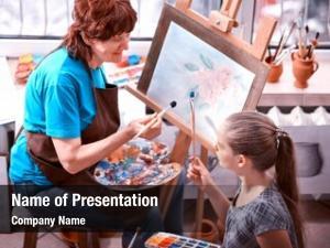 Easel artist painting studio