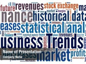 Word business trend collage