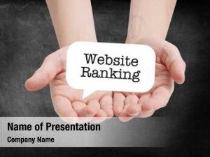 Written website ranking speechbubble