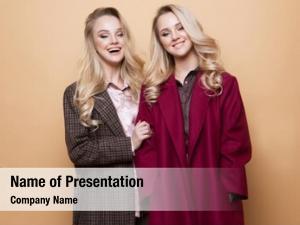 Two fashion portrait girls, best