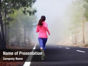 Runner healthy running woman workout