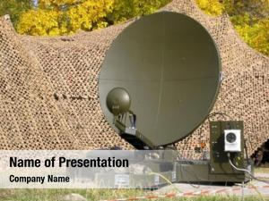 Military camouflaged tactical satellite dish