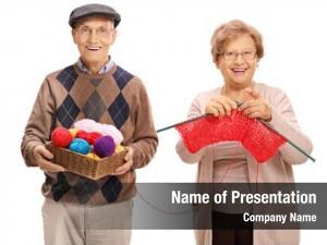 Helping elderly man elderly woman