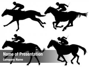 Racing illustrated silhouettes horses horses