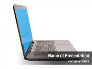 Laptop modern glossy computer blank