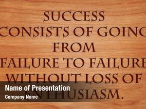 Going success consists failure failure