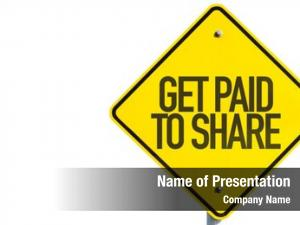 Share get paid sign white