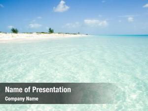 Crystal clear caribbean beach water
