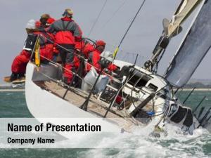 Racing fully crewed yacht racing