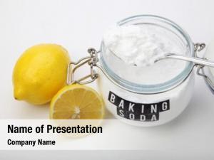 Soda spoonful baking lemon fruits