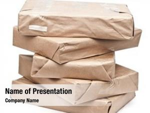 Packages brown paper