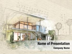 House architecture sketch building