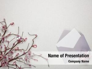 Box flowers, gift envelope blank