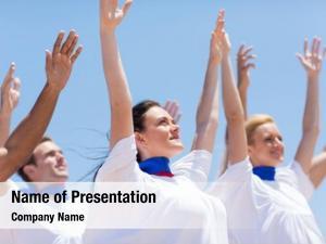 Church group christian choir praising