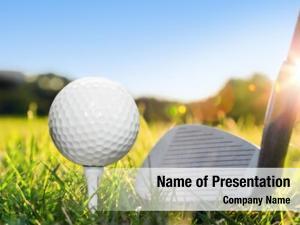 White golf ball tee golf