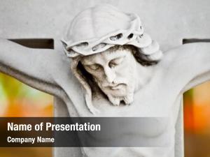 Crucifixion marble statue jesus colorful