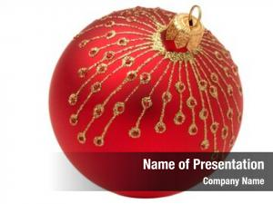 Ball red christmas white