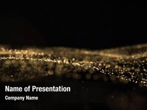 Sparkling golden glitter light particles
