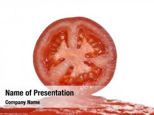 Cream pure tomato juice sliced