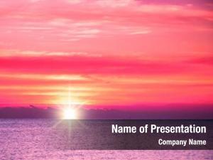 Sunset bright colorful sea beautiful
