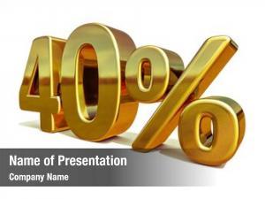 40%, gold sale gold percent