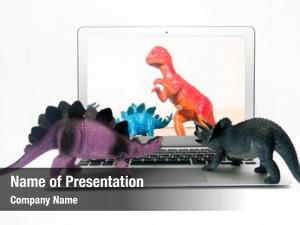 Watching dinosaur toys dinosaur film